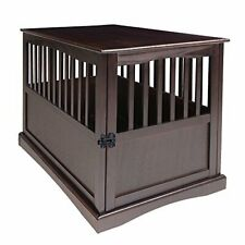 Casual Home Pet Crate End Table-Espresso