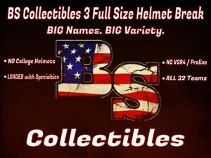 MINNESOTA VIKINGS BS Collectibles Three Box Full Size Helmets Break