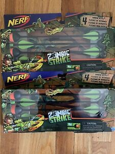 Nerf Zombie Strike Dreadbolt Blaster Arrow Refill 4 Arrows In Each (LOT OF 2)