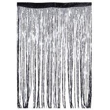 String Curtains Patio Net Fringe for Door Tassel Fly Screen Windows Divider Wniu 1pc Black 100cm X 200cm