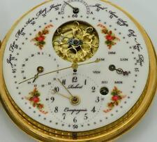 Wow! Museum Verge Fusee Calendar Regulator Dial watch.Enamel . Hieronymus Bosch