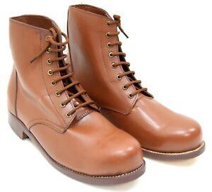 Repro AIF Australian Army WW1 WW2 Hobnail Leather Boots Brown Amazing Quality