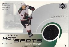Daniel Briere Phoenix Coyotes Upper Deck Authentic Game Worn Jersey Card