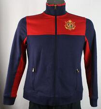 Vintage Lauren Ralph Lauren L-RL Active Equestrian Club Crest Red & Blue Jacket