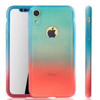 Apple IPHONE XR Funda Estuche Móvil Protector Folio Panzer Azul/Rojo