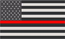 "Thin Red Line American Subdued Flag Decal 5""x3"" Firefighter Sticker RH"