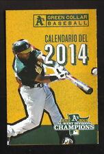 Yoenis Cespedes--Oakland Athletics--2014 Spanish Pocket Schedule--KIQI/KATD