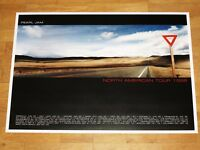 PEARL JAM POSTER - NORTH AMERICAN TOUR 1998 / AMES BROS. ORIGINAL VINTAGE MINT