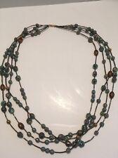 Long Multi Strand Beaded Necklace