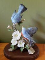 HOMCO Home Interiors Masterpiece Springtime Song Bluebirds Porcelain Figurine