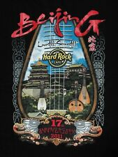 "2001 China Beijing Hard Rock Cafe ""17th Anniversary"" T-shirt"
