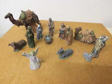 Weihnachtskrippenfiguren - 13 Teile - Keramik handbemalt