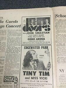 The Doors - Jim Morrison - 1970 Concert Advertisement - Rock Music - Newspaper