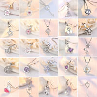 2020 New 925 Sterling Silver Pendant Necklace Women Fashion Jewelry 39 Style