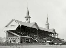 "1901 Churchill Downs, Kentucky Derby, 24""x16"" Photo - Horse Racing antique decor"