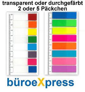 Pagemarker mit Lineal Folie 12x45mm, 8 Farben Haftstreifen Notes Indexstreifen