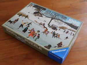 vintage 1989 PUZZLE 1000 RAVENSBURGER GERMANY eislaüfer Marlyse HUBER-BREUNINGER