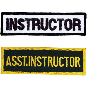 Pack of 3 Embroidered Assistant or Instructor Badges Patches