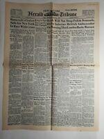 N236 La Une Du Journal herald tribune 24 août 1939 Roosevelt's cruiser