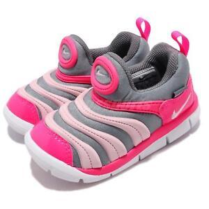 Nike Dynamo Free TD Grey Pink White Toddler Infant Baby Shoes Sneaker 343938-019
