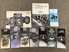 Large Lot of Vintage Canon Camera Manuals & Brochures F1, EOS, T90 etc