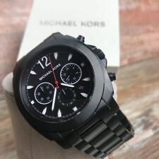 MICHAEL KORS MEN'S BLACK WATCH MK8282