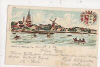 Gruss Aus Werder a H 1906 U/B Chromo Litho Postcard Germany 744a