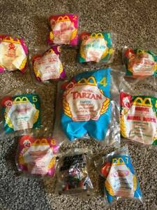 Vintage Lot of 10 Mcdonalds Happy Meal Toys - 90s unopened!!! Micro Machines!!!