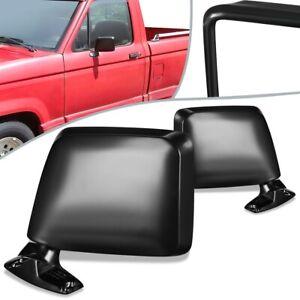 Fit 83-92 Ford Ranger Bronco II Pair Manual Side Door Mirror FO1320108 FO1321108