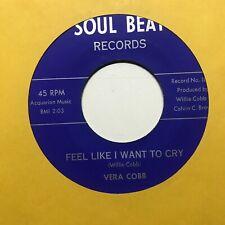 northern soul popcorn r&b 45 VERA COBB Feel Like I Want to Cry  SOUL BEAT listen
