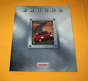 GMC Sonoma 1999 USA Prospekt Brochure Depliant Prospetto Catalog Folder Broschyr