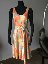 fae7807524 CACHAREL 100% COTTON SLEEVELESS PRINTED DRESS Sz 42 IT/ 8, FITS Sz 6