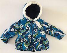 NWT Gymboree Snowflake Shimmer 2T-3T Blue Swirl Fur Trim Hooded Puffer Jacket
