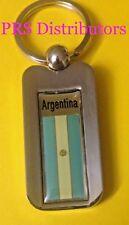 ARGENTINA KEYCHAIN ARGENTINA FLAG KEYCHAIN ARGENTINA CHROME METAL KEYCHAIN