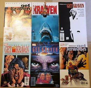 SPIDERMAN GET KRAVEN MARVEL COMICS 1 2 3 4 5 6 JAWS SCARFACE TRIBUTE COVERS