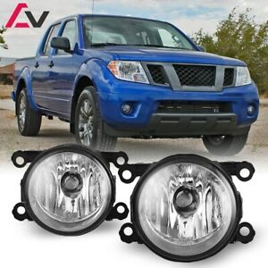 For Nissan Frontier 05-19 Clear Lens Pair Bumper Fog Light Lamp OE Replacement