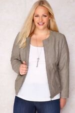 Faux Leather Motorcycle Plus Size Coats & Jackets for Women