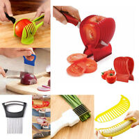 Home Vegetable Fruit Slicer Cutter Onion Fork Tomato Potato Slicers Holder Tools