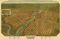 Spokane Washington - Graham 1905 - 23.00 x 35.80