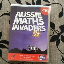 AUSSIE MATHS INVADERS MAC WIN 95 CD. GAME