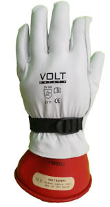 Leather Outer Glove with A Strap for Electrical Insulated Gloves (Goat Skin)
