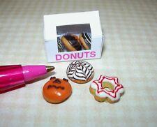 Miniature Halloween Donuts Doughnuts, Loose w/Box for DOLLHOUSE Scene 1/12