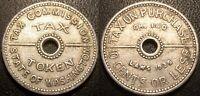 Etats-Unis - Washington - jeton - tax on purchase 10 cents or less 1935 !