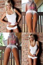 SEXY WHITE BRASIL THONG PARTY DANCER 100% COTTON SEX BRASILIAN KNICKER FRENCH