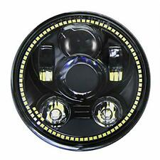 Wisamic 5-3/4 5.75 inch Halo LED Headlight: Compatible with Harley Davidson Dyna