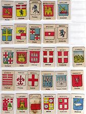"""Lotto di 61 figurine cartonate serie """"Stemmi delle città Italiane"""" anteguerra"""