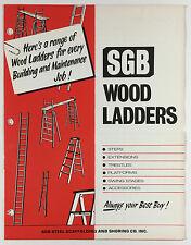 Vintage SGB Steel Scaffolding And Shoring Co Wood Ladders Advertising Brochure