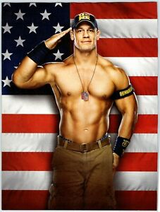 "WWE JOHN CENA USA FLAG WRESTLING 8.25"" X 10.5"" Magazine Photo Page Clipping M39"