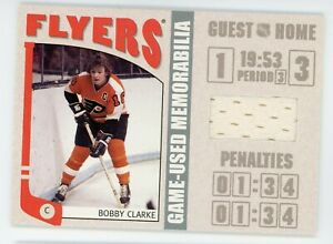 2004-05 ITG In the Game Franchises Bobby Clarke Jersey Card Flyers Silver #/70