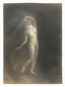 Pictorialist Photograph of a Dancing Nude Woman 1920's - Style of Genthe-Brigman